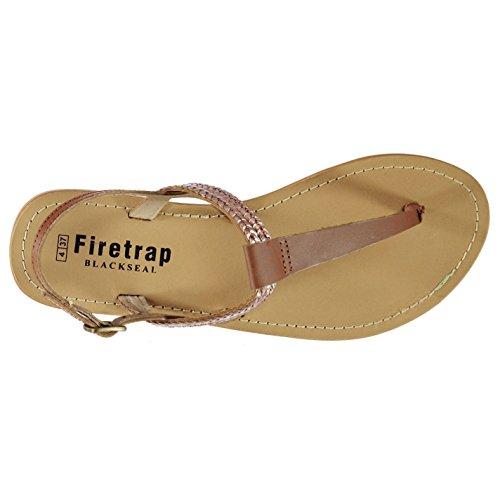 Firetrap Womens Blackseal Rose Flat Sandals Tan/Rose Lthr JqG3gnJ