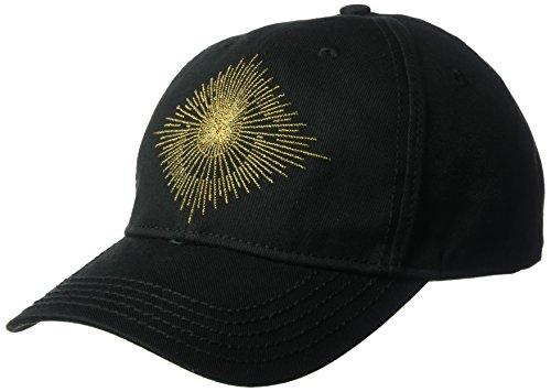 (True Religion Men's Metallic Logo Ball Cap, Black OSFA)