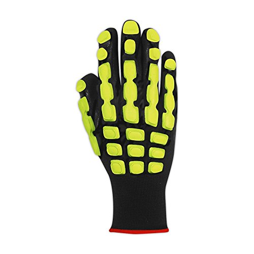 Magid Glove & Safety TRX100L T-REX TRX100 Multipurpose Impact Glove, Black, Large, Polyester (Pack of 12) by Magid Glove & Safety (Image #1)