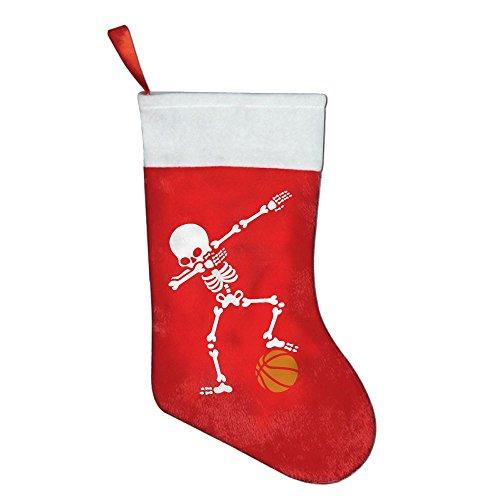 YISHOW Dab Dabbing Skeleton Basketball Personalized Christmas Stocking