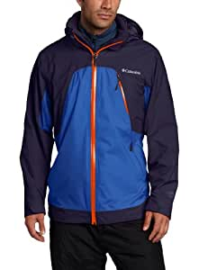 Columbia Men's Glacier to Glade III Interchange Jacket, Ebony Blue, Small