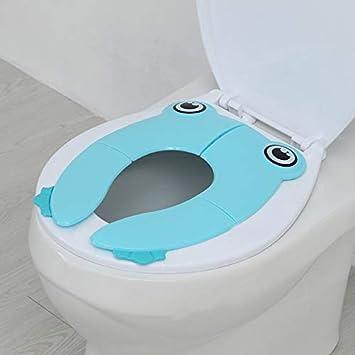 Teabelle pliante Abattant WC Sado la fois à domicile et de voyage Housse WC au-dessus de 12mois et jusqu'à 27,2kilogram Réducteur WC infantile comme protection d'écran pour bébés, les tout-petits
