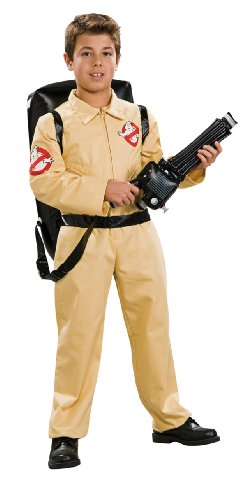 Ghostbuster Deluxe Child's Costume with Blow Up Proton Pack, Medium (Ghostbusters Halloween Costume Child)