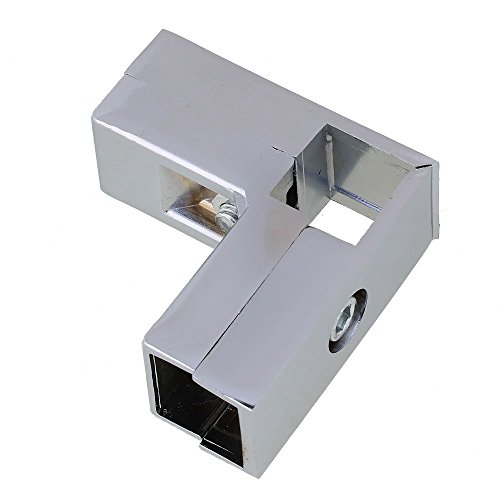 Aluminum Square Pipe - Aluminum Alloy 3 Way L Shape Square Tube Clamp Tube Connector Pipe Fittings