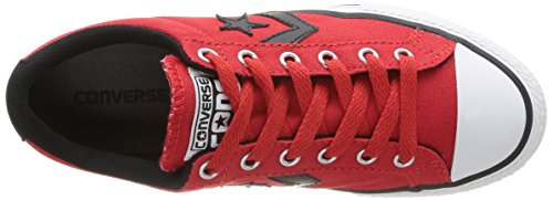 Converse Star Player Ox - Zapatillas de Deporte de canvas Infantil Rojo - Rouge (Rouge/Noir)