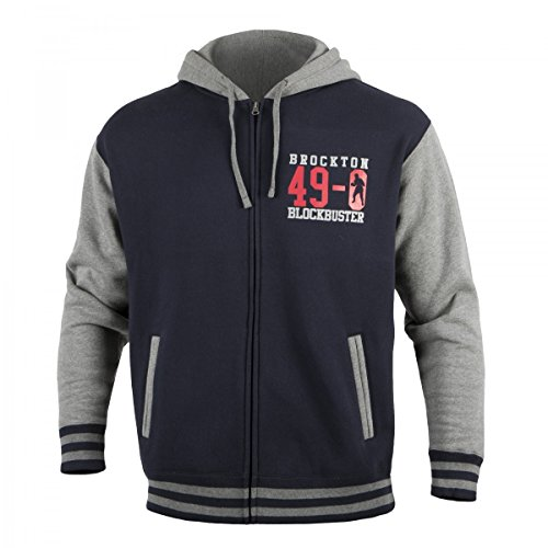 Rocky Marciano Shield Legacy Jacket, Navy/Grey, Large by Title Boxing