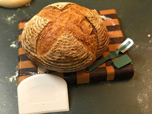 Make Beautiful Sourdough Bread with Baker's Reserve Ultimate Bread Baking Kit - Kit Includes Round 9 inch Banneton, Linen Liner, Dough Scraper and Dough Lame - Perfect for Making Rustic, Artisan Bread by Baker's Reserve (Image #5)