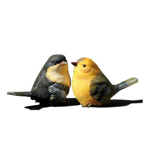 Un Par De Pájaros Decoración De Hogar De Estilo Rural Generic