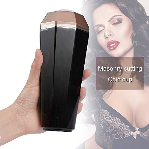 QJFFJ- Mästurbators Cup Waterproof Realistic Deluxe Pocket for Men Private Hands Free Pleasure Release Stress Massager, for Him