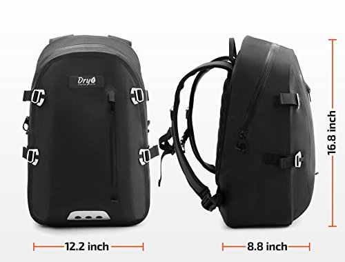 100% Waterproof Backpack with Airtight Zipper - Eco Friendly   PVC Free -  Removable Multi Pocket Padded Sleeve - Guaranteed Protection for 15