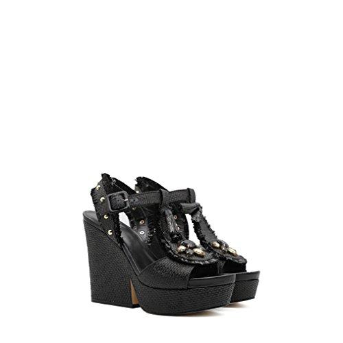 Mujer Liu Jeans Para Sandalias Jo Negro de Vestir qYnqTwU