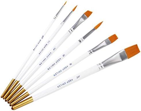 【ノーブランド品】絵画 教育用 絵筆 丸筆 ペイントブラシ セット 6本セット