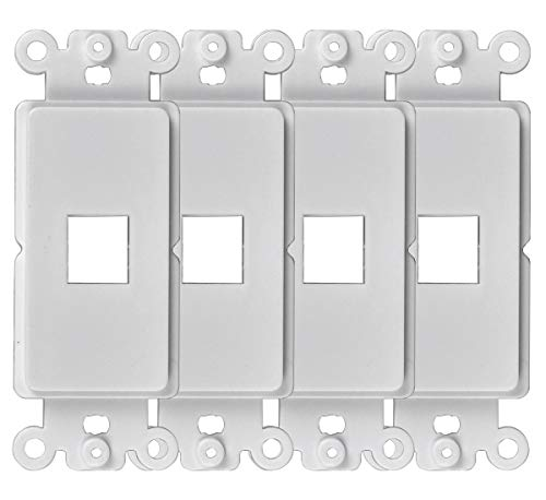 Conshine 1-Port QuickPort Decora Wall Plate Insert Jack Compatible with Standard Decora Wallplates and Keystone, 4-Pack