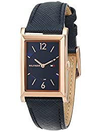 Tommy Hilfiger Women's Classic Leather Band Steel Case Quartz Watch 1781839