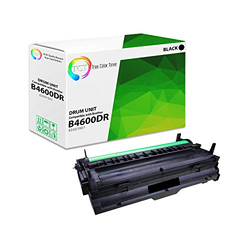 TCT Premium Compatible Drum Unit Replacement for Okidata B4600DR 43501901 Black Works with Okidata B4400 B4600 Printers (25,000 Pages)