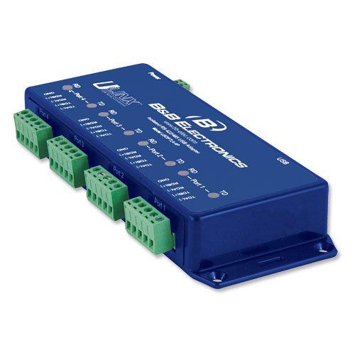 ADVANTECH B+B SMARTWORX USOPTL4-4P Isolated USB 2 or 4 Port RS-422/485 Converter by Quatech