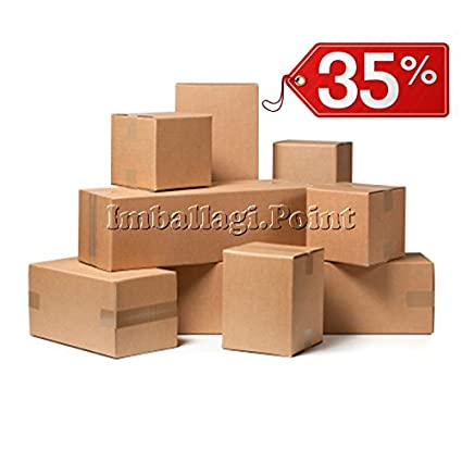 40 piezas caja de cartón embalaje envío 20 x 14 x 10 cm Caja Avana