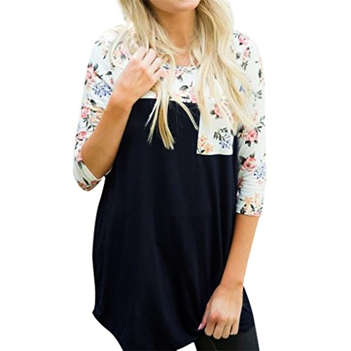 women-blousehaoricu-women-fashion-floral-splicing-loose-casual-blouse-cotton-tops-with-pocket-xl-nav