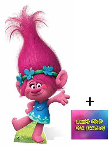 Fan Pack - Princess Poppy from Trolls Cardboard Cutout / Standee / Standup - Includes 8x10 Star Photo