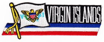 US Virgin Islands - Country Flag Patch (Virgin Island Flag Patch)