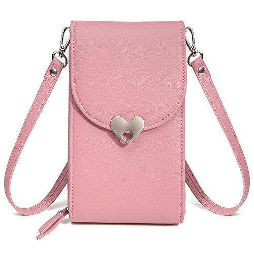 Small Crossbody Bag Small Phone Bags For Women,Cell Phone Purse Cell Phone Bags For Ladies,Small Shoulder Bag Messenger Bag Wallet Phone Case(Pink-1, universal size) (Universal Messenger Bag)