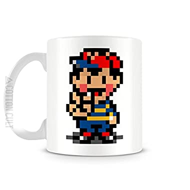 Earthbound Ness Gamer Mug 11oz Ceramic Coffee Mug Video Game Tea Cup