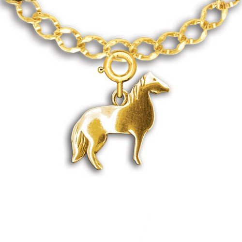 14k Gold Western Horse Charm for Charm Bracelet by The Magic Zoo