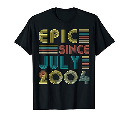July 2004 T Shirt 15 Year Old Shirt 2004 Birthday Gift