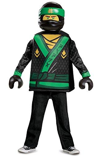 Disguise Lloyd LEGO Ninjago Movie Classic Costume, Green, Medium (7-8)