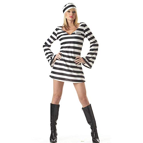 Yunfeng Witch Costume Halloween Costume Female Prisoner Zombie Outfit Cosplay Costume Uniform Performance Costume]()
