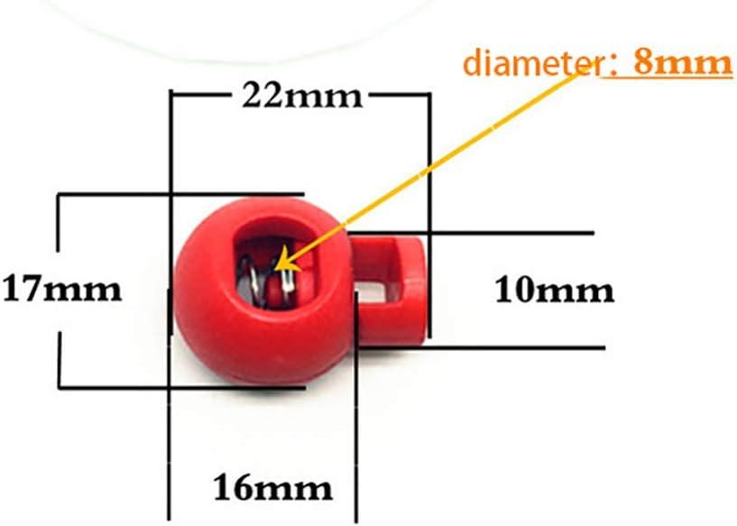 Haifly 50 St/ück Bunt Kunststoff Kordelstopper Runde Knebelanschlag Schnurschloss Cord Lock Stopper