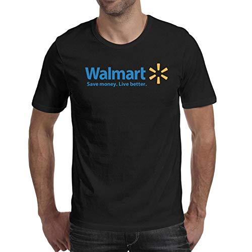 Black Logo Blackout T-shirt - Men's t Shirts Black Novelty Short Sleeve Walmart-Supermarket-Logo- tee Shirt