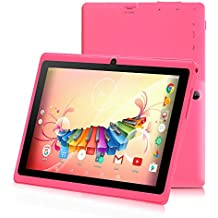 iRULU 7 inch Tablet Google Android 6.0 Quad Core 1024x600 Dual Camera Wi-Fi Bluetooth,1GB/8GB,Play Store Netfilix Skype 3D Game Supported GMS Certified with One Year Warranty (Pink)