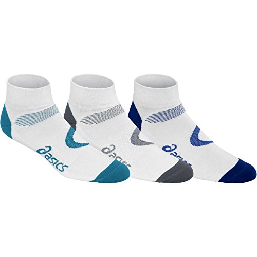 ASICS Intensity Quarter Socks , Large, White Assorted