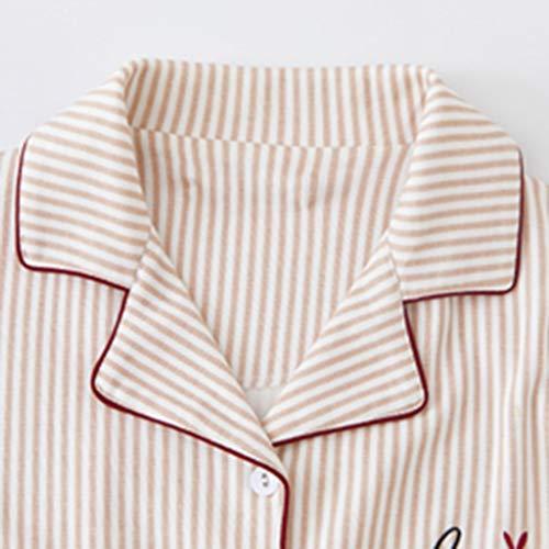 6d7cfd7a0eb Pijamas otoño e Invierno de algodón de Manga Larga versión Coreana Linda de  la Primavera y