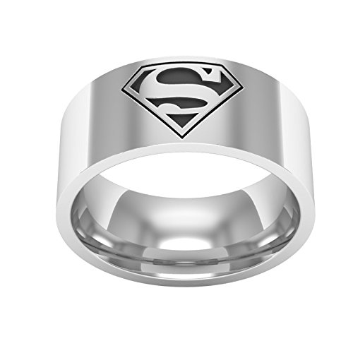superman band ring superman silver wedding band ring with 925 mark it is comfort - Superman Wedding Ring