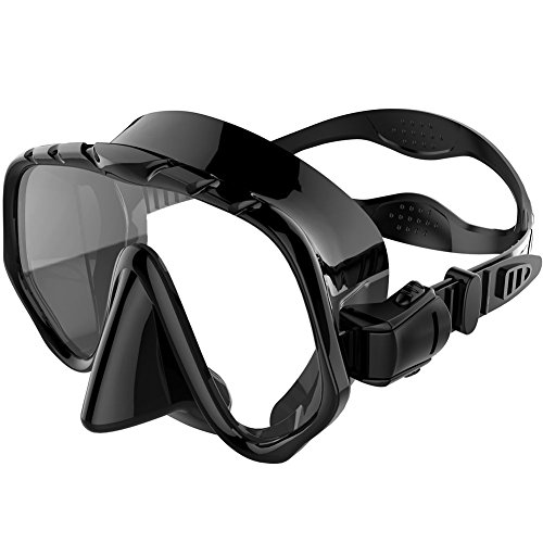 Zionor Diving Mask Low Volume Design Tempered Glass Lens Wide View Distortion-free Durable Liquid Silicone for Scuba Diving Snorkeling Freediving - Low Volume Mask