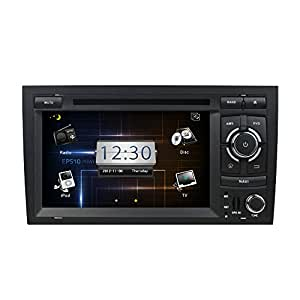 For Audi A4 (1999-2008) multi-Touch Screen Car DVD GPS Navigation Build-In Bluetooth,Radio with RDS,Analog TV, AUX&USB, iPhone/iPod Controls, Steering Wheel Control, Free Map
