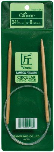 Clover 3016/24-7 Takumi Bamboo Circular 24-Inch Knitting Needles, Size 7
