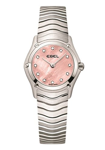 Ebel Classic Diamond Pink Dial Ladies Watch 1216279