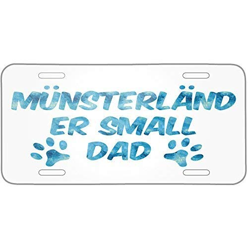 Price comparison product image ClustersNN Dog & Cat Dad M252;nsterl228;nder Small Metal License Plate 6X12 Inch