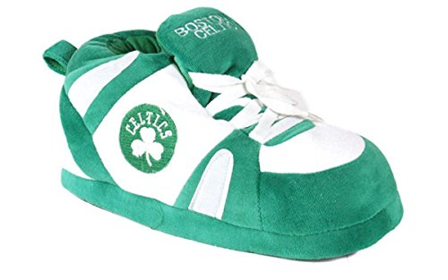 BCE01-3 - Boston Celtics - Large - Happy Feet Mens and Womens NBA Slippers
