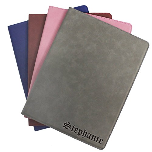 Engraved Custom Monogrammed Business Portfolio with Journal Notepad Padfolio - Business Notepads Personalized