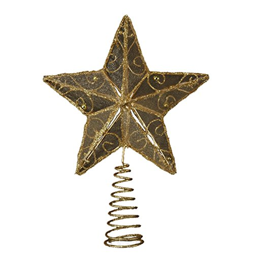 Club Pack of 12 Gold Wire Christmas Tree Toppers 6.25""
