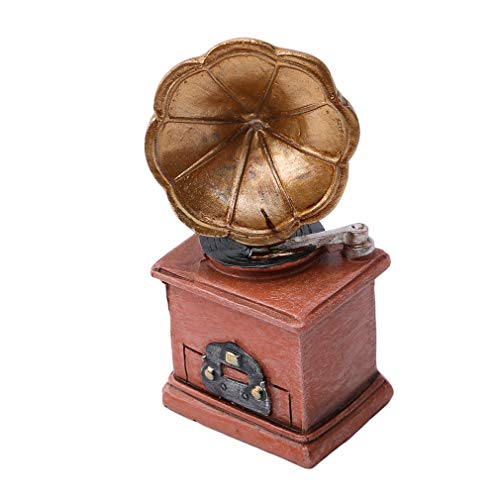 EH-LIFE Retro Nostalgic Resin Crafts Phonograph Shape Mini Small Decoration Creative Picture Shooting Ideas Newborn Baby Photography Props Studio Accessories