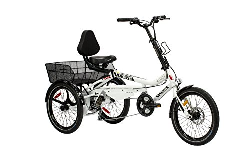 Trivel AZTECA Model Tricycle for adults – Scooter Trike – 20″ wheels – Fully Assembled (White)