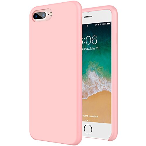 IHAITUN iPhone 8 Plus Case, iPhone 7 Plus Case,iPhone 7/8 Plus Liquid Silicone Shock Absorption Case with Soft Microfiber Cloth Lining for Apple iPhone 7 Plus (2016)/iPhone 8 Plus (Soft Liquid)