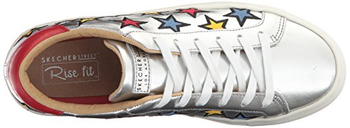 Star Side para Street Colores Multicolour Zapatillas Leather Embroidered Color Trim Silver Mujer Skechers Varios Star Embroid dxXwqXE61