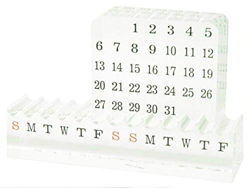 Acrylic Perpetual Revolving Calendar - Executive Acrylic Award