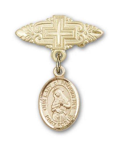 Icecarats Or Bijoux De Créateurs Rempli O / L De La Providence Broche De Badge Charme Avec Une Croix X 3/4